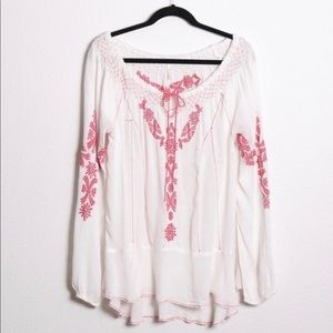 Free People Rolling Stones Embroidered Peasant